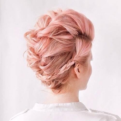 Pink Faux Hawk
