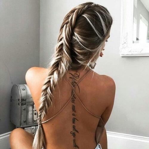 Platinum Blonde Highlights with Brown Hair
