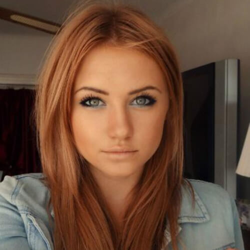 Reddish Brown Hair with Blonde Highlights