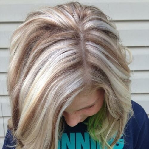 Reverse – Blonde Hair with Brown Highlights