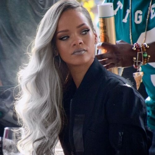 Rihanna Gray Hair