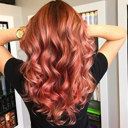 Rose Gold Wavy Locks