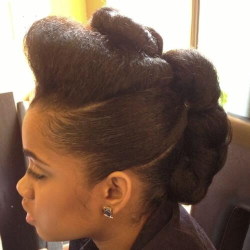 Sculpted Natural Hair Updos