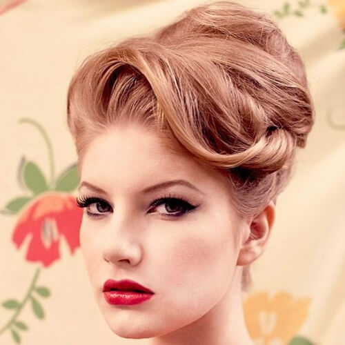 Vintage Updos for Long Hair