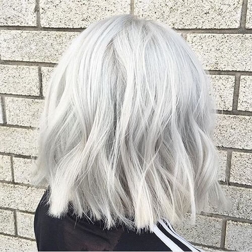 White Gray Hair