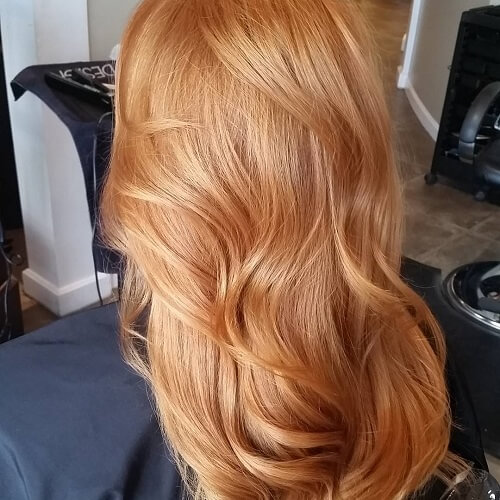 honey strawberry blonde hair