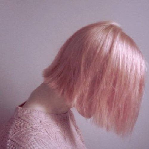 pale rose gold hair