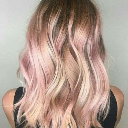 rose gold and platinum highlights