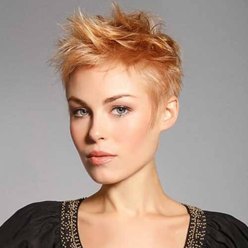 short strawberry blonde hair