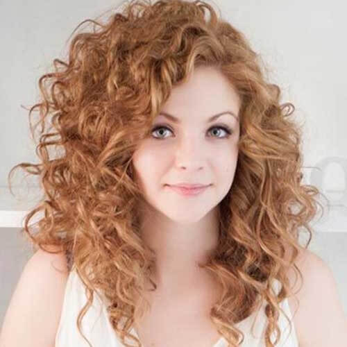 strawberry blonde curly hair