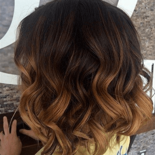 Balayage on Loose Curls Hairstyle