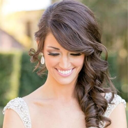 Bridal Side Bangs Hairstyles