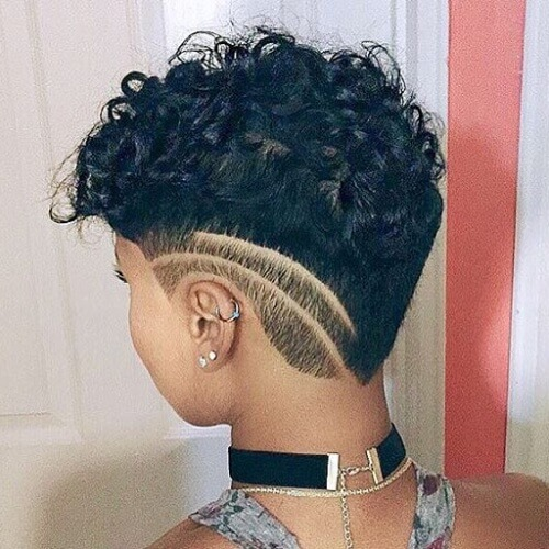 Creative Short Black Curly Hairstyles