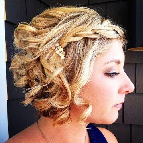 Fancy Braid and Pearly Pin