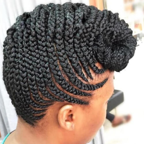Ghana Braids Pompadour