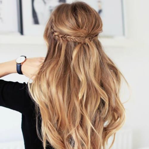 Half Up Boho Braid Hairstyle