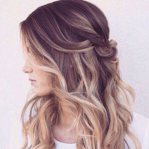 Messy Half Up Hairstyle