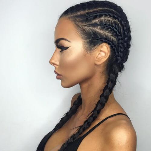Mixed Ghana Braids