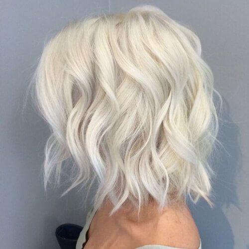 Platinum White Waves