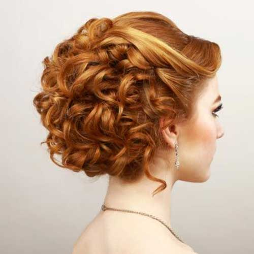 Prom Updos for Curly Bobs