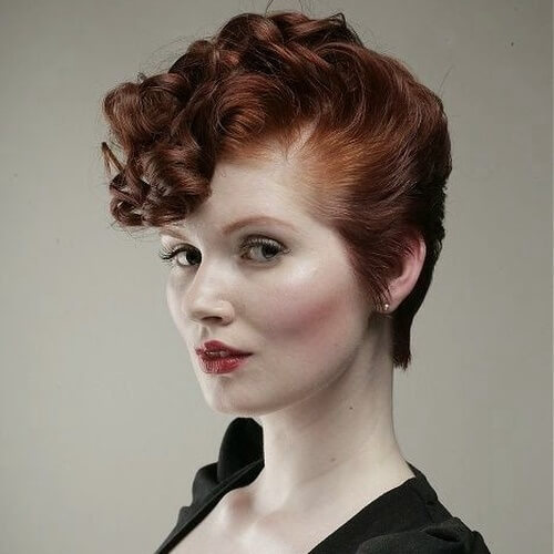 Retro Short Curly Hairstyle