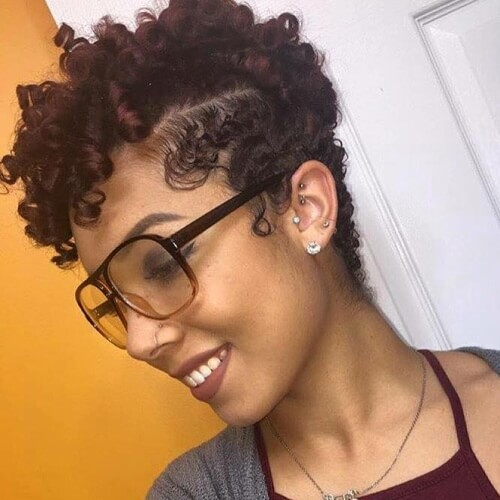 Short Curly Black Hairstyles with Ringlets