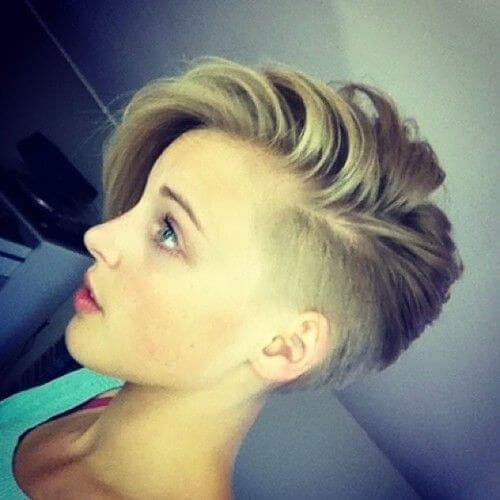 Side Razor Pixie Haircut