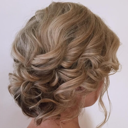 Sophisticated Updos for Short Curls