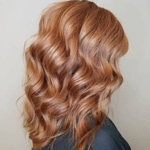 Strawberry Blonde Waves