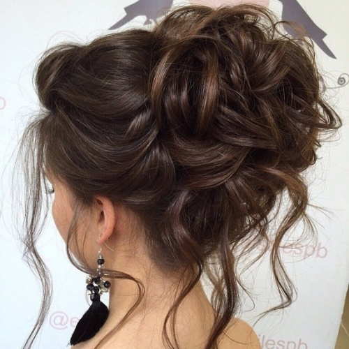 Updo for Wavy and Thick Hair