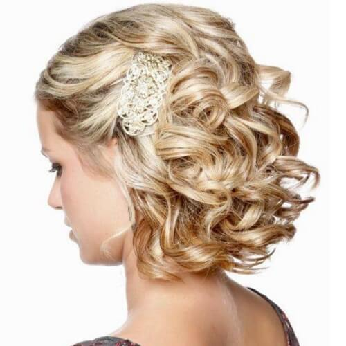 Wedding Hairstyles for Curly Short Hair