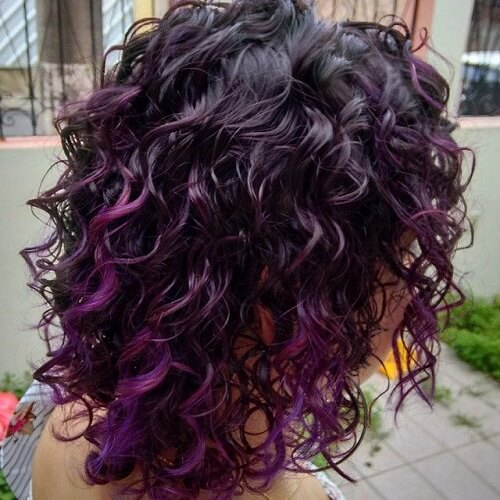 Black and Purple Ringlets