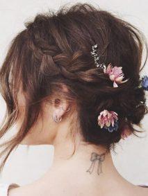 Bohemian Flowery Updo