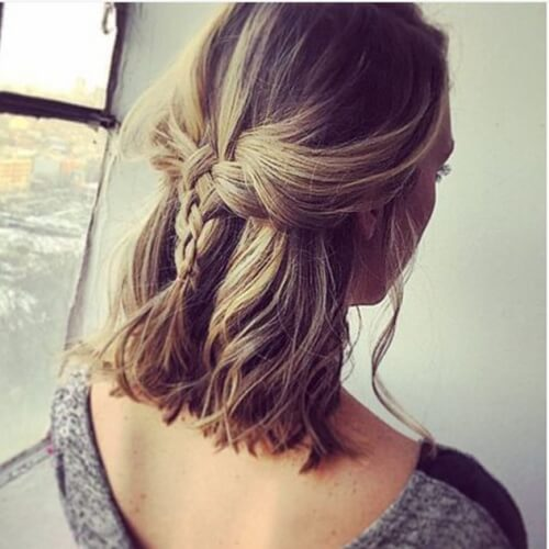 Braided Shoulder Length Hairstyle