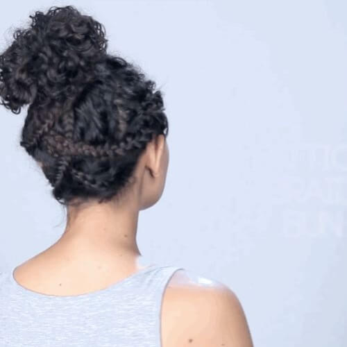 Criss Cross Braided Buns