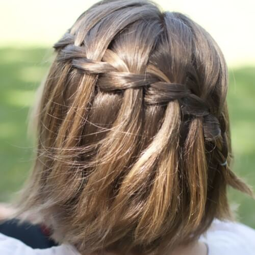 Diagonal Waterfall Braids