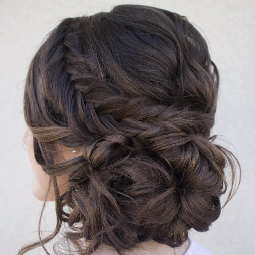 Fishtail Braid Updos