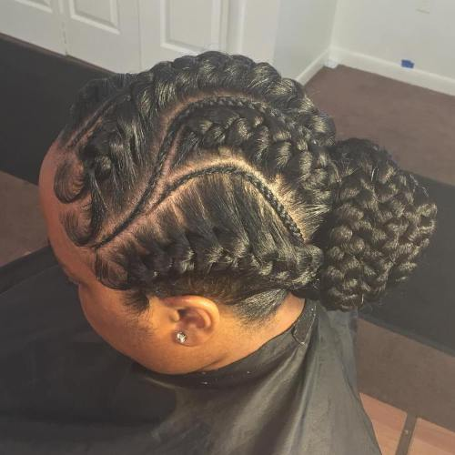 Goddess and Micro Braids Updos