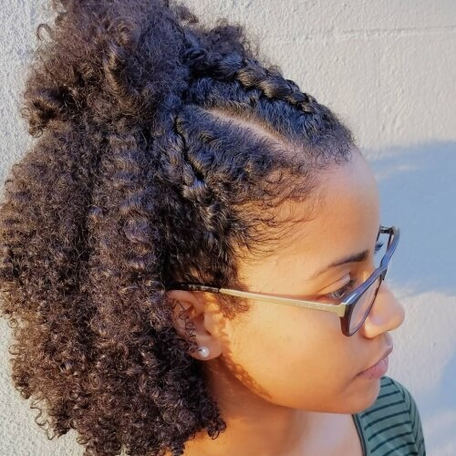 Half Braided Hairstyles for Natural Hair