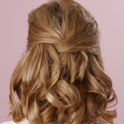 Half Up Twisted Hairstyles