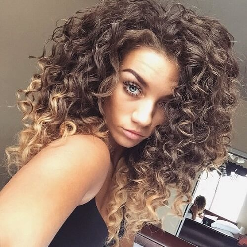 Ombre Hairstyles for Curls