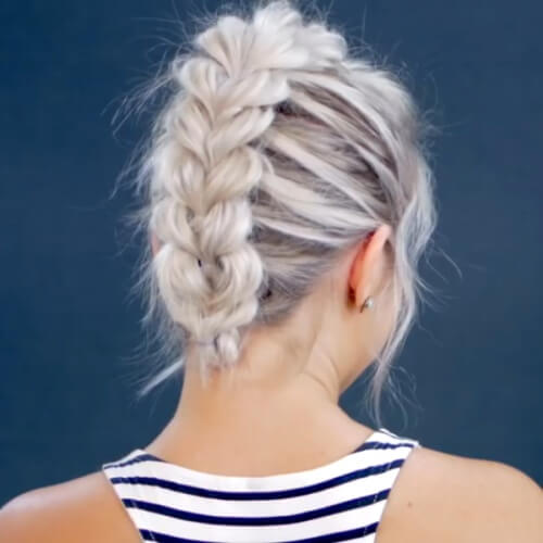 Pull Through Braid Faux Hawk