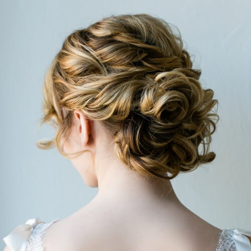 Rose Shaped Updos