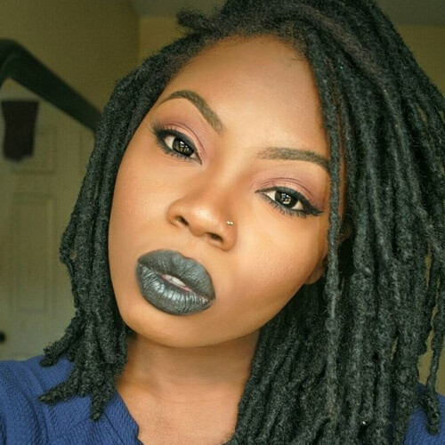 Shoulder Length Black Hairstyles with Dreadlocks