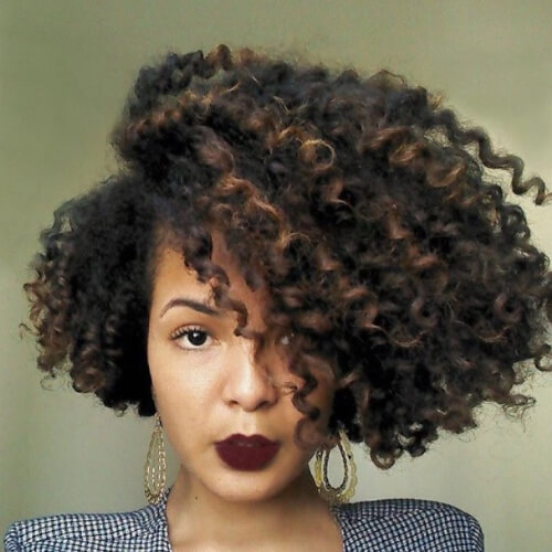 Asymmetrical Bob Curly Hair