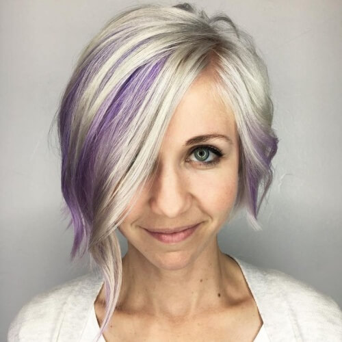 Asymmetrical Bob for Mature Women