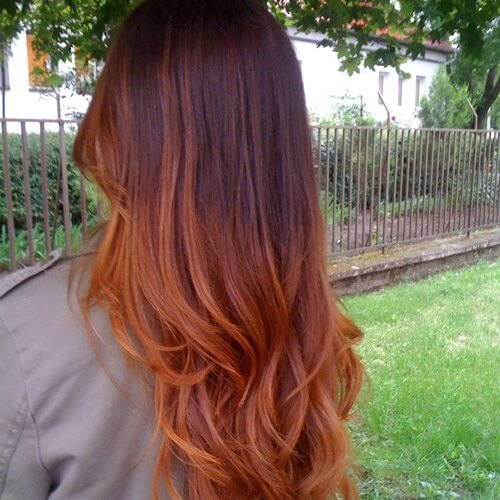Auburn Hair Color Ombre