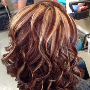 Auburn Hair Color With Caramel Streaks Hair Motive Hair