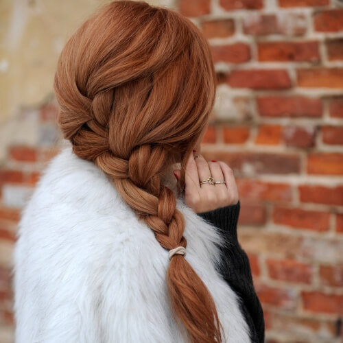 Big, Loose Auburn Braid