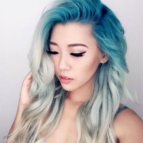 Blue and Silver Ombre